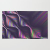 novelty Area & Throw Rugs featuring Novelty Waves 2 by Mario De Meyer