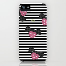 Love and Stripes iPhone Case