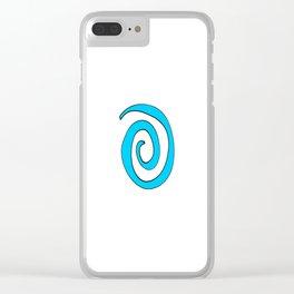 blue spiral Clear iPhone Case