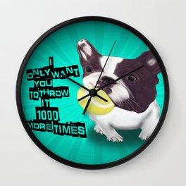 Throw it Again!! Wall Clock