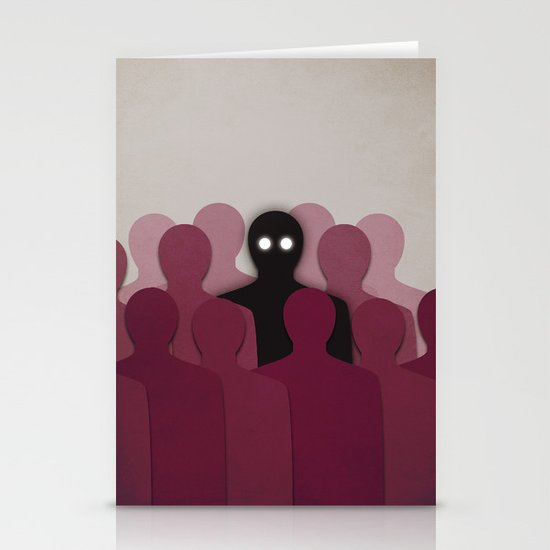 Different And Alone In Crowd Stationery Cards