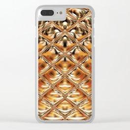Mirrored Copper Metallic Urban Industrial Texture Clear iPhone Case