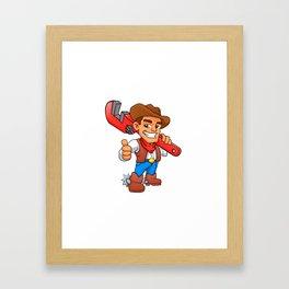 plumber cowboy Framed Art Print