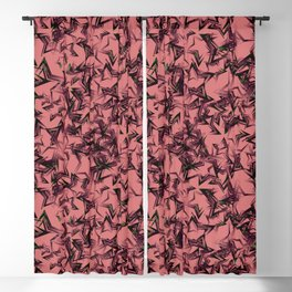 Pink starry dense texture on a burgundy background. Blackout Curtain