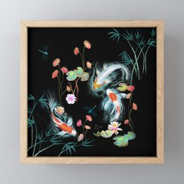 Japanese Water Garden Framed Mini Art Print