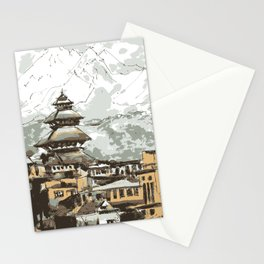 Himalayan Temple in Nepal Stationery Cards