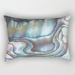Shimmery Pastel Abalone Shell Rectangular Pillow