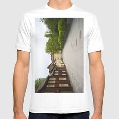 Stockholm, Sweden Old Streets MEDIUM Mens Fitted Tee White