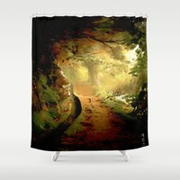 fairytale Shower Curtains featuring Fairytale by Nev3r