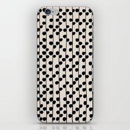 Dots / Black & White Pattern iPhone Skin