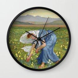 """Walter Crane """"La Primavera (Spring)"""" Wall Clock"""