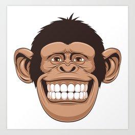 Chimpanzee Monkey Style Art Print
