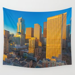 Downtown Seattle Skyline at Sunset 2 Wall Tapestry