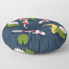 Japanese Koi Fish Pond Floor Pillow