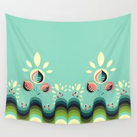 garden Wall Tapestries featuring Happy Garden by VessDSign