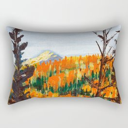 Forest Invermere by Dennis Weber of ShreddyStudio Rectangular Pillow