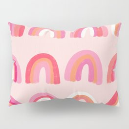 Rainbow Paint Rolls – Pink Pillow Sham