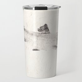 Brook Trout in Black - Gyotaku Travel Mug