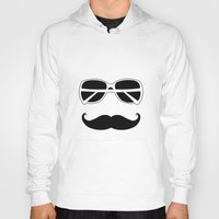 hipster Hoodies featuring Hipster by Genevieve Moye