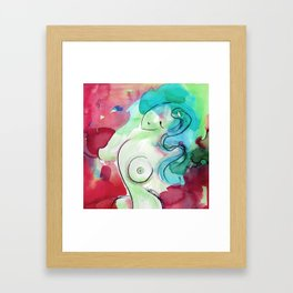 Abstract Nude Goddess 11d by Kathy Morton Stanion Framed Art Print