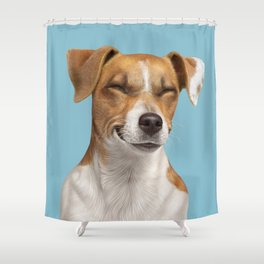 Smiling Dog (Jack Russell) Shower Curtain