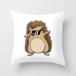 Dabbing Hedgehog T Shirt Funny Dab Dance Throw Pillow