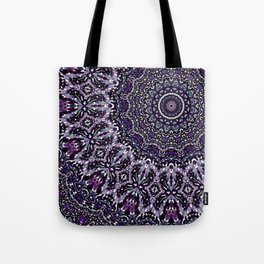 Purple, Gray, and Black Kaleidoscope 2 Tote Bag