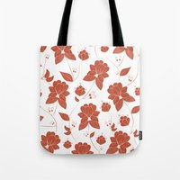 vintage floral Tote Bags featuring Vintage Floral by She's That Wallflower