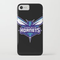 nba iPhone & iPod Cases featuring NBA - Hornets by Katieb1013