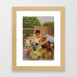 Bodine Road Farm Framed Art Print