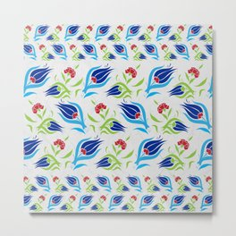 Turkish tulip pattern 7 Metal Print