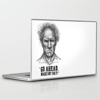 clint eastwood Laptop & iPad Skins featuring CLINT EASTWOOD  by Ani Dvaladze