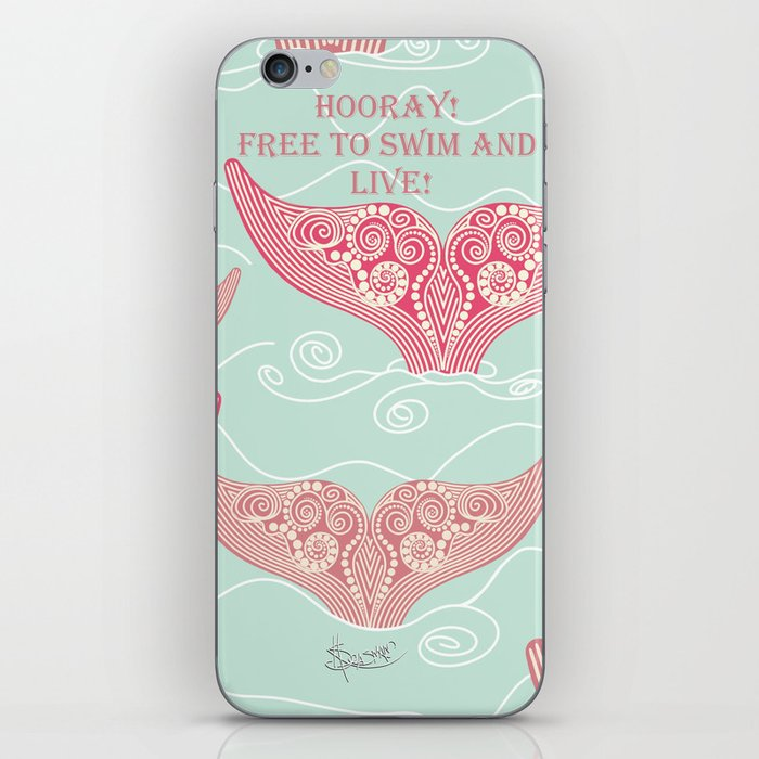FINALLY! Whales are free from persecution! iPhone Skin