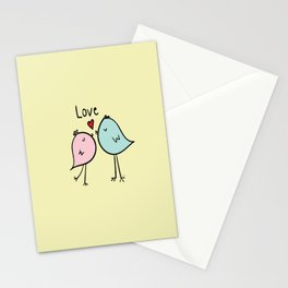 Chirp & Whistle Love Birds Stationery Cards