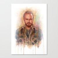 jesse pinkman Canvas Prints featuring Jesse Pinkman by Guillem Marí