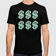 Mint Dollars Black MEDIUM Mens Fitted Tee