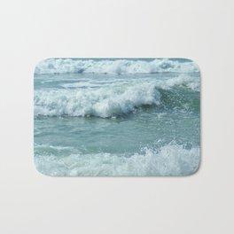 AQUA OCEAN WAVES AND SURF CORNWALL Bath Mat