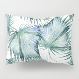 Floating Palm Leaves 2 Pillow Sham