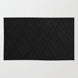 Black Grunge Deco 001 Rug