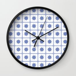 Portuguese Tiles IV Wall Clock