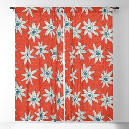 sema fire orange blue Blackout Curtain