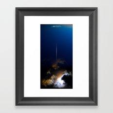 uux teaser poster: the survivor Framed Art Print