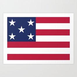 Simplified American Flag Art Print