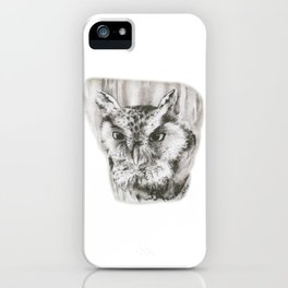 Owl Stare by annmariescreations iPhone Case