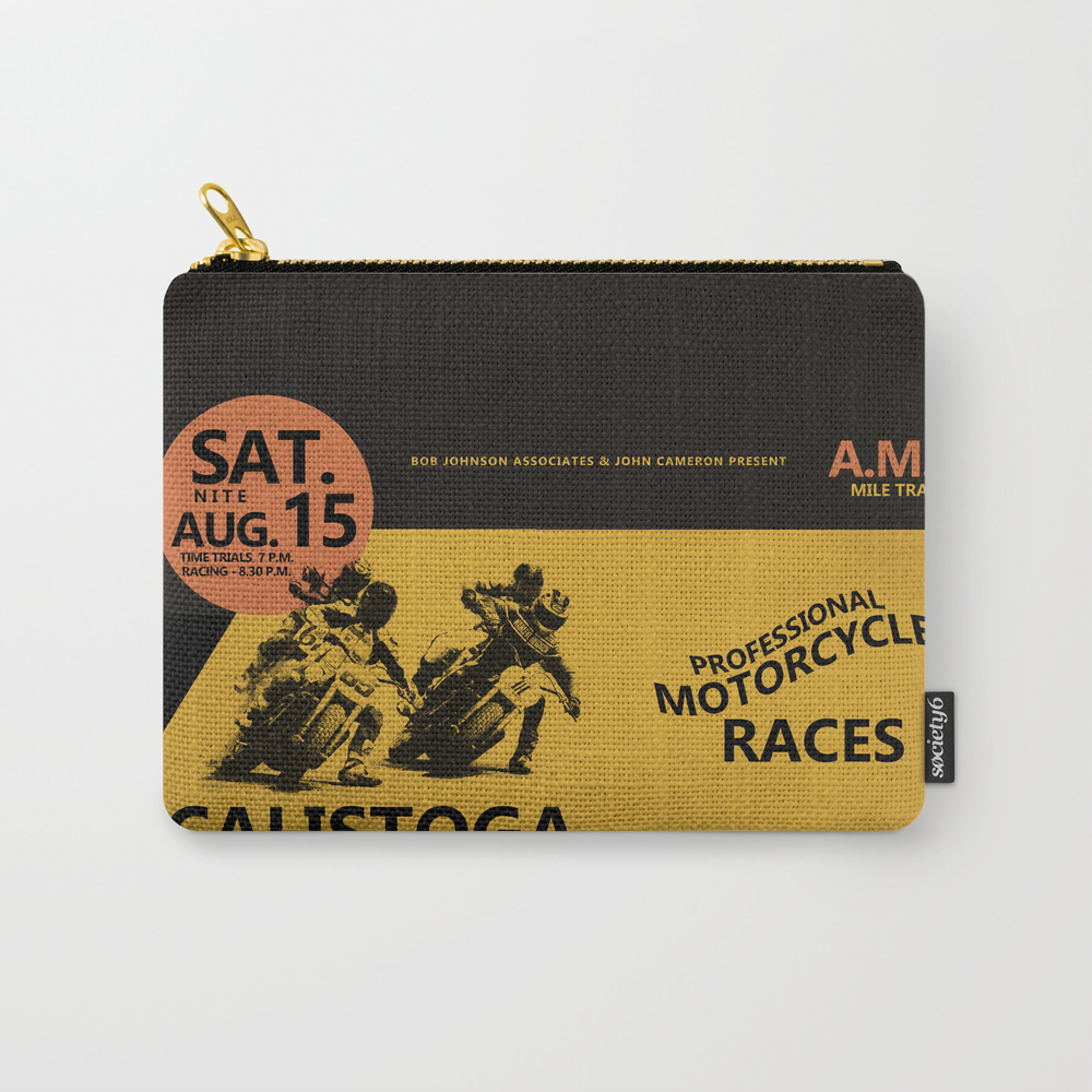 Calistoga Motorcycle Races Carry-all Pouch by Markrogan CAP8563966
