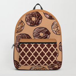 Chocolate Donuts Pattern Backpack
