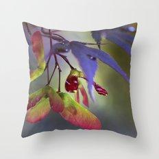 Japanese Maple Seeds Throw Pillow