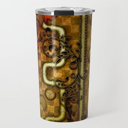 Noble Steampunk design, clocks and gears Travel Mug
