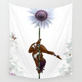 Purple Dancing Daisy Wall Tapestry