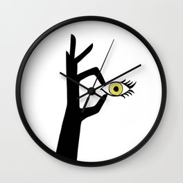 Yellow Eye Wall Clock
